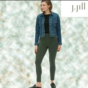 J. JILL ARMY GREEN SKINNY PANTS